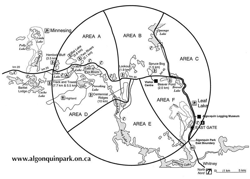 Algonquin Park Christmas Bird Count Circle Map