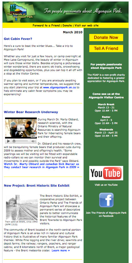 FOAP eNews Bulletin - March 2010