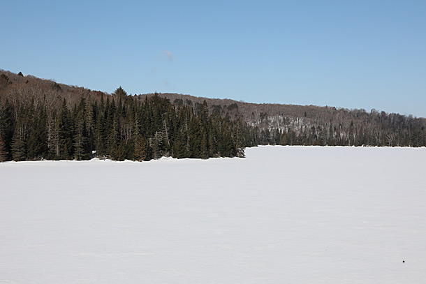 Brewer Lake in Algonquin Park on April 4, 2019