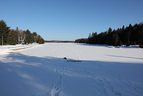 Canoe Lake in Algonquin Park on April 4, 2019