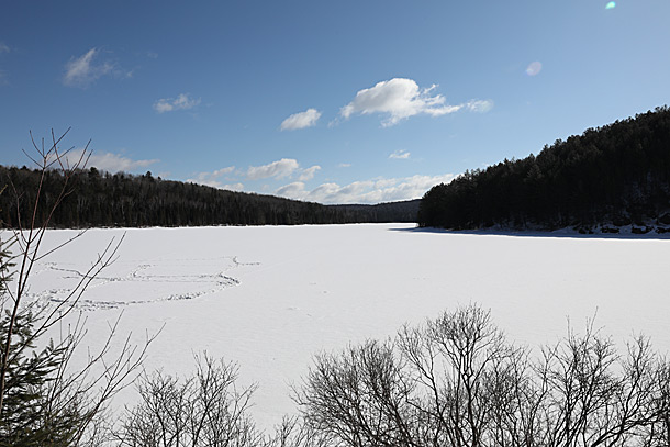 Costello Lake in Algonquin Park on April 4, 2019