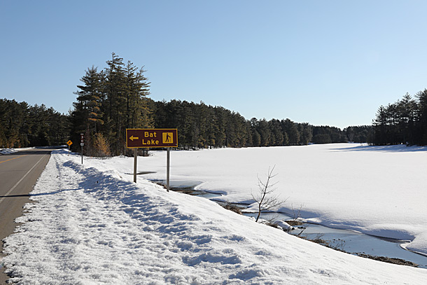 Mew Lake in Algonquin Park on April 4, 2019