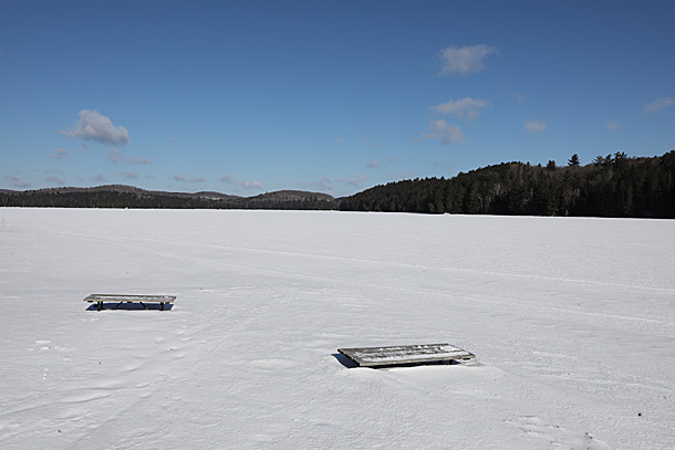 Lake Opeongo in Algonquin Park on April 4, 2019