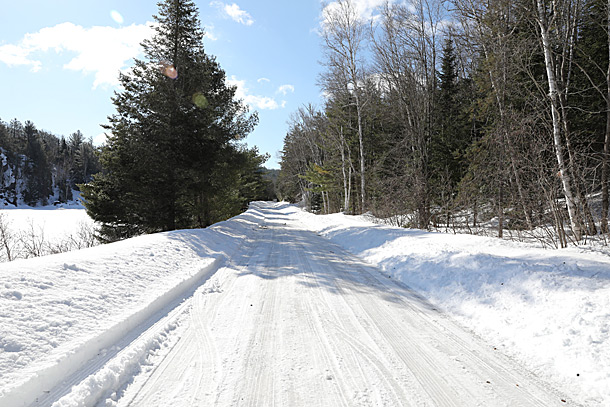 Opeongo Road in Algonquin Park on April 4, 2019