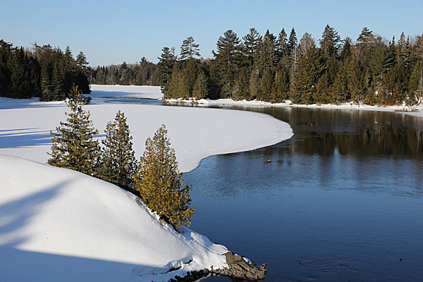 Smoke Creek in Algonquin Park on April 4, 2019