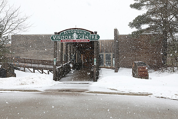Algonquin Park Visitor Centre on April 9, 2019 (click to enlarge).