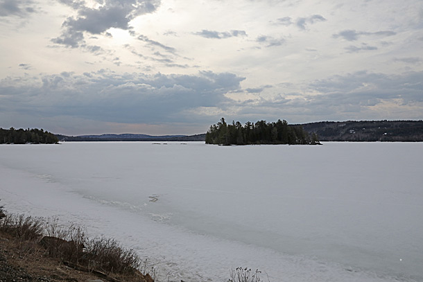 Lake of Two Rivers in Algonquin Park on April 12, 2019.