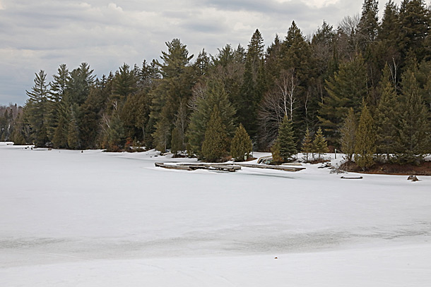 Canoe Lake in Algonquin Park on April 12, 2019.