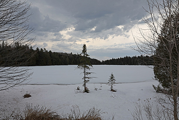 Found Lake in Algonquin Park on April 12, 2019.