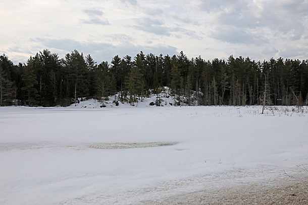 Mew Lake in Algonquin Park on April 12, 2019.