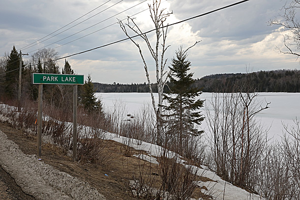 Park Lake in Algonquin Park on April 12, 2019.
