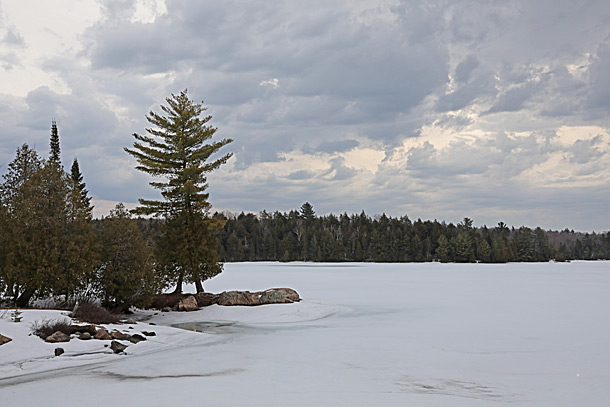 Smoke Lake in Algonquin Park on April 12, 2019