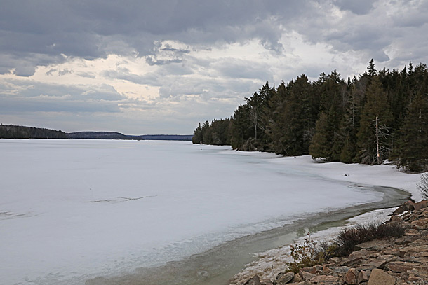 Smoke Lake in Algonquin Park on April 12, 2019.