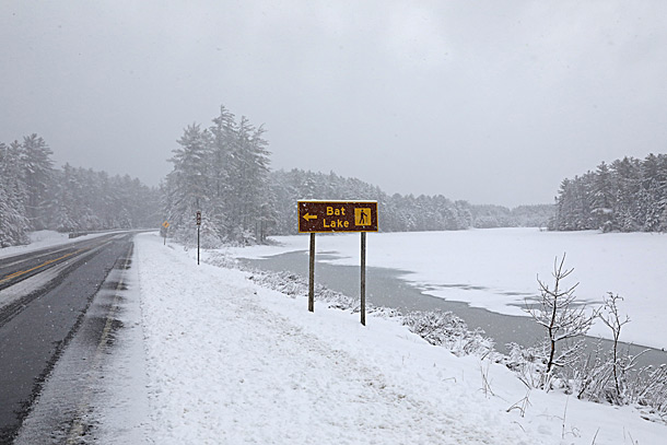 Mew Lake in Algonquin Park on April 15, 2019