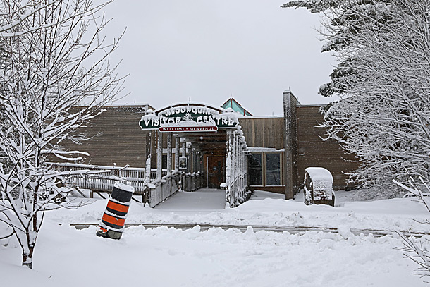 Algonquin Park Visitor Centre in Algonquin Park on April 15, 2019.