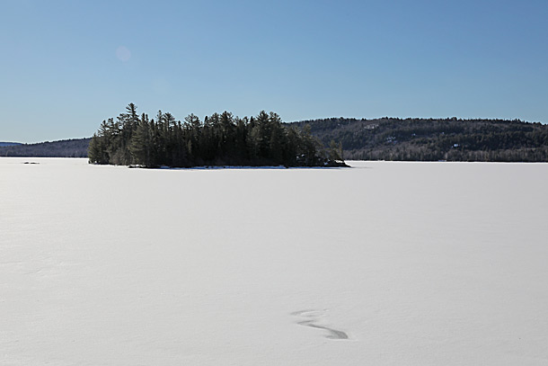 Lake of Two Rivers in Algonquin Park on April 15, 2019.