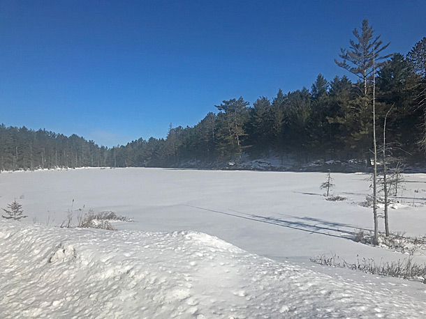 Eos Lake in Algonquin Park on April 15, 2019.