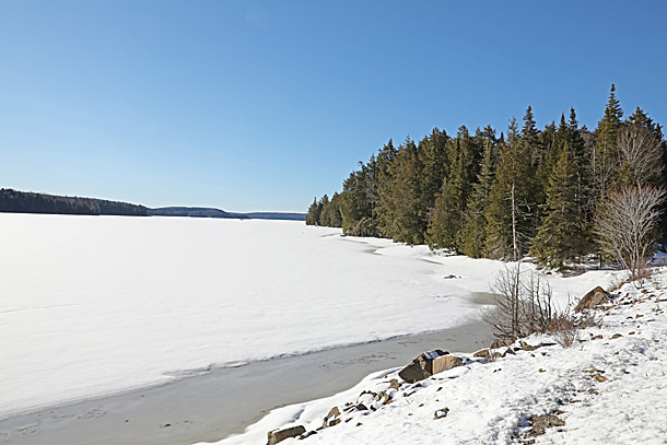 Smoke Lake in Algonquin Park on April 15, 2019.