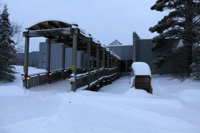 Algonquin Park Visitor Centre in Winter