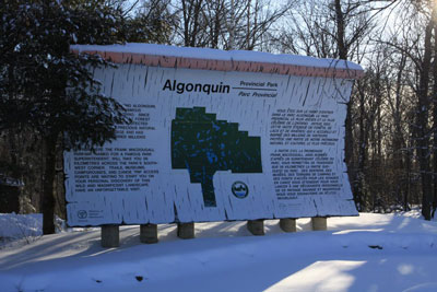 West Gate, Algonquin Park in Winter