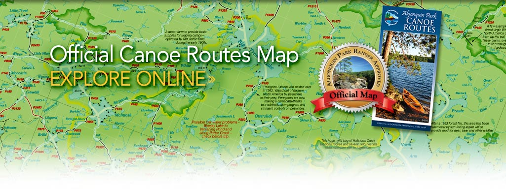 Algonquin Park Canoe Routes Map
